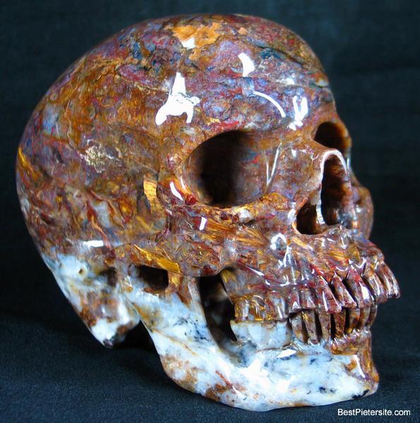 Huge quot pietersite carved crystal skull super realistic