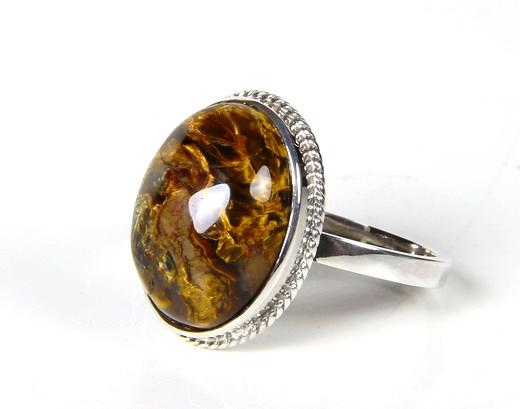 Pietersite Crystal Ring