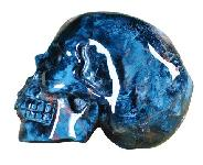 Blue Pietersite Skull Carving