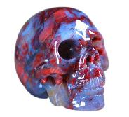 Rare 1.4 Pietersite Carved Crystal Skull, Gemstone