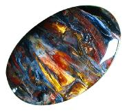 Gold, Red & Blue Pietersite Cabochon