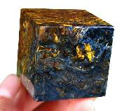 Pietersite Cube Carving, Gemstone