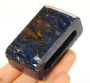 Pietersite Carved Buckle, Gemstone, Chatoyant