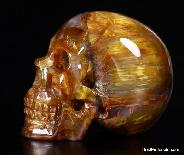Pietersite Carved Skull, Gemstone, Chatoyant