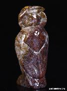 Pietersite Carved Owl, Gemstone, Chatoyant
