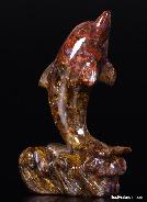 Pietersite Carved Dolphin, Gemstone, Chatoyant