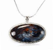 Pietersite Crystal Ball, 925 Sterling Silver