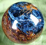 "STUNNING! Giant 123mm(4.8"") Pietersite Sphere, Gemstone"