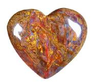 Pietersite Heart Carving