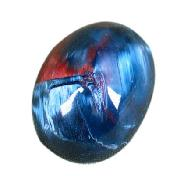 Blue & Red Pietersite Ring Cabochon