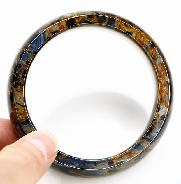 Pietersite Carved Crystal Bangle
