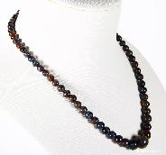 "TOP QUALITY, 8.9"" length, Pietersite Crystal Necklace, Gemstone, Chatoyant"