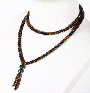"TOP QUALITY, 15.6"" length, Pietersite Crystal Necklace, Gemstone, Chatoyant"